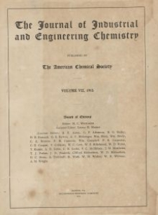 The Journal of Industrial and Engineering Chemistry, Vol. 7, Subject Index