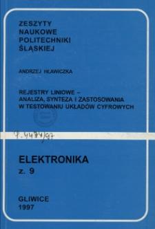 Rejestry liniowe - analiza, synteza i zastosowania w testowaniu układów cyfrowych