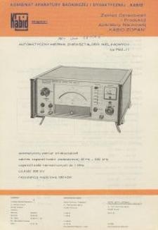 Automatyczny miernik zniekształceń nieliniowych TYP PMZ-11
