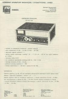 Generator sygnałowy TYP KZ 1623