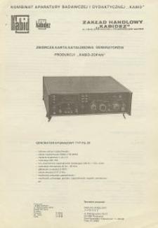 Generator sygnałowy TYP PG-20
