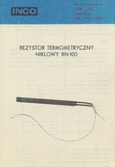 Rezystor termometryczny niklowy