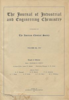 The Journal of Industrial and Engineering Chemistry, Vol. 9, Subject Index