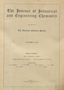 The Journal of Industrial and Engineering Chemistry, Vol. 10, Subject Index