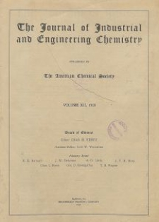The Journal of Industrial and Engineering Chemistry, Vol. 12, Subject Index