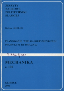 Planowanie wieloasortymentowej produkcji rytmicznej