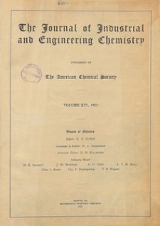 The Journal of Industrial and Engineering Chemistry, Vol. 14, Subject Index