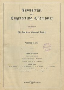 Industrial and Engineering Chemistry : industrial edition, Vol. 15, Subject Index