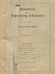 Industrial and Engineering Chemistry : industrial edition, Vol. 17, No. 1