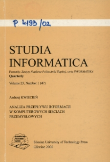 Analiza przepływu informacji w komputerowych sieciach przemysłowych