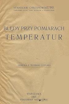 Błędy przy pomiarach temperatur