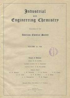 Industrial and Engineering Chemistry : industrial edition, Vol. 18, No. 1