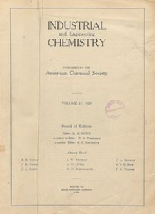 Industrial and Engineering Chemistry : industrial edition, Vol. 21, No. 1