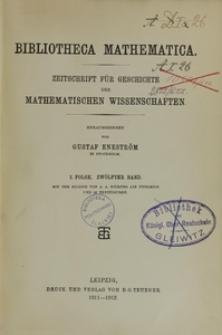 Bibliotheca Mathematica, Bd. 11, 1910-1911