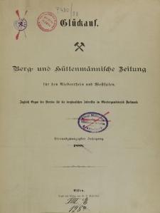 Glückauf, Jg. 25, Sachregister
