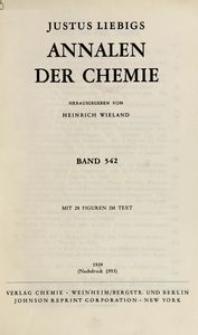 Justus Liebigs Annalen der Chemie. Band 542