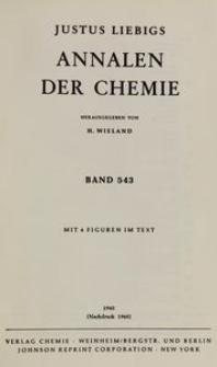 Justus Liebigs Annalen der Chemie. Band 543