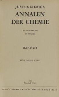 Justus Liebigs Annalen der Chemie. Band 548