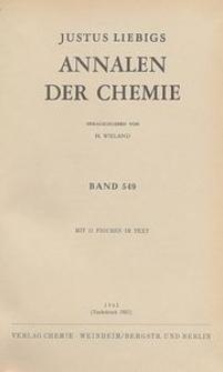 Justus Liebigs Annalen der Chemie. Band 549