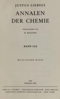 Justus Liebigs Annalen der Chemie. Band 552