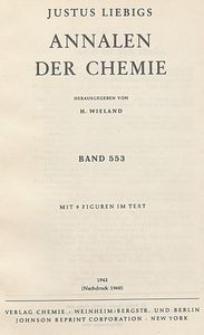 Justus Liebigs Annalen der Chemie. Band 553