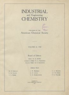 Industrial and Engineering Chemistry : industrial edition, Vol. 22, Author Index