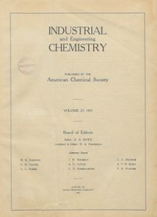 Industrial and Engineering Chemistry : industrial edition, Vol. 23, No. 1